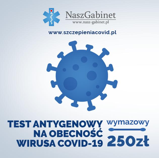 Test antygenowy na obecność wirusa COVID 19 - Kielce